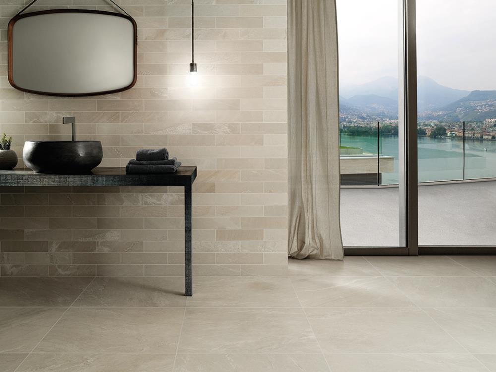 Salle de bain briquette peinture chambre gris taupe idees for Verriere interieure bricorama