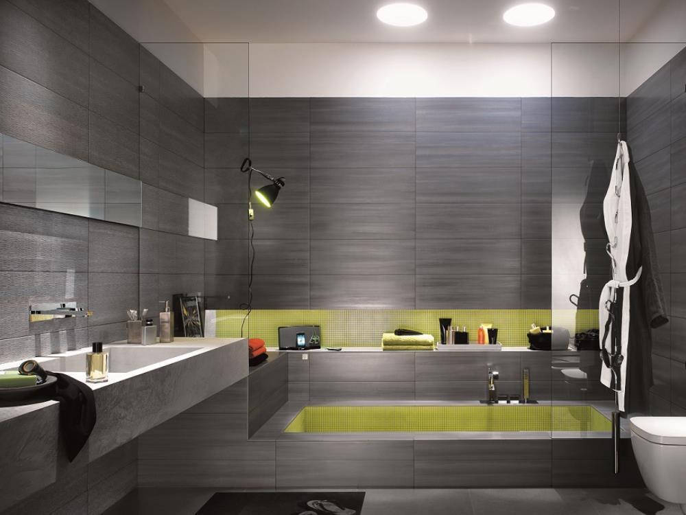 Carrelage salle de bains faiences alain vera carrelage for Carrelage tomette grise