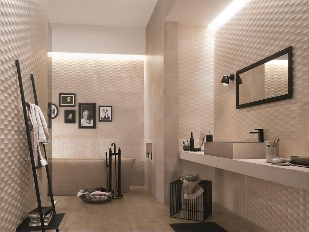 Carrelage salle de bains faiences alain vera carrelage - Carrelage blanc brillant salle de bain ...
