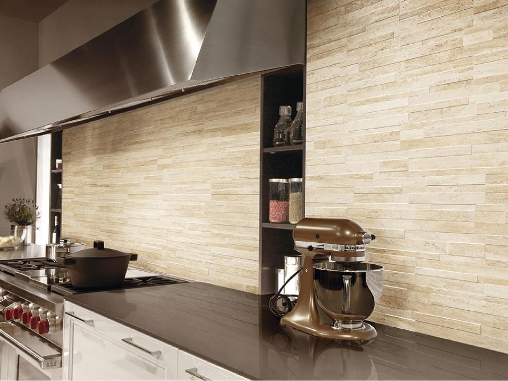 Carrelage salle de bains parement alain vera carrelage - Rivestimento cucina effetto pietra ...